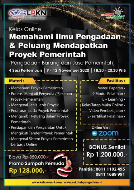 Memahami Ilmu Pengadaan & Peluang Mendapatkan Proyek Pemerintah (Pengadaan Barang dan Jasa Pemerintah) 09 - 12 November 2020 logo