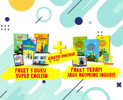 Paket 3 Buku Super + Paket Terapi Jago Ngomong Inggris logo