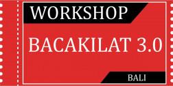 Tiket Workshop Bacakilat 3.0 BALI 28/3/2020 logo