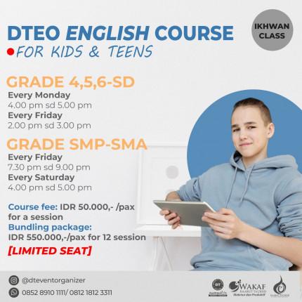 Pendaftaran DT English Course Ikhwan SMP SMA logo