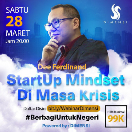 Webinar Startup Mindset Di Saat Krisis - Dee Ferdinand logo
