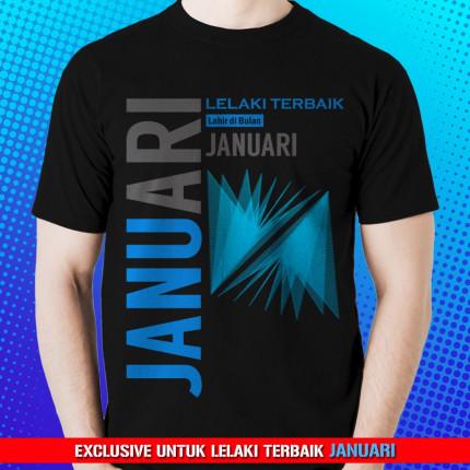 Kaos Premium Lelaki Terbaik Januari logo