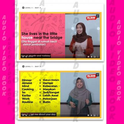 Paket Terapi Jago Ngomong inggris - Audio Video Book + Kaos Motivasi