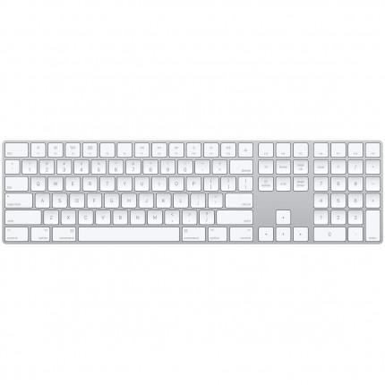 Magic Keyboard with Numeric Keypad Silver / White logo