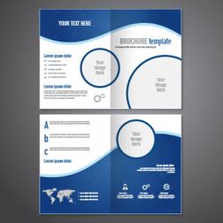 Desain brosur 2 sisi 2 lipatan logo
