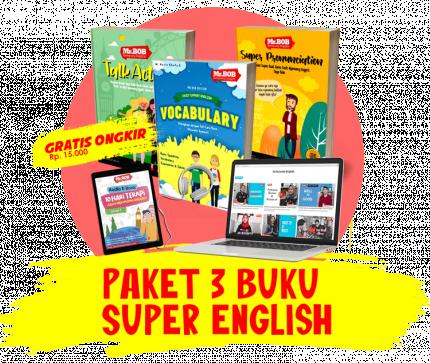 Paket 3 Buku Super + Paket Terapi Jago Ngomong Inggris