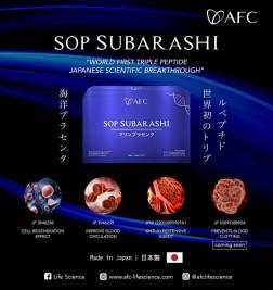 Sop Subarashi Original, Triple Peptide Asli Jepang logo