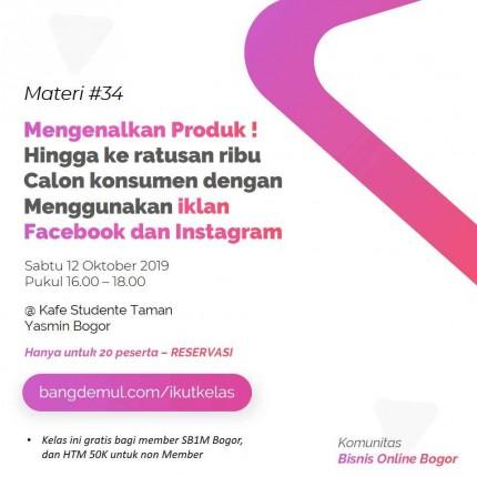 Kelas Komunitas Bisnis Online Bogor