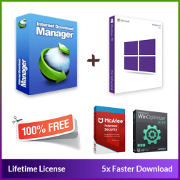 Internet Download Manager + Windows 10 Pro logo