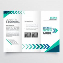 Desain brosur 1 sisi 3 lipatan logo