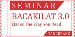 Tiket Seminar BACAKILAT TANGERANG 19/01/2020 logo