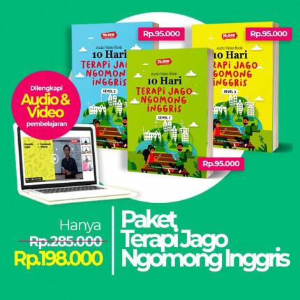 Paket Terapi Jago Ngomong inggris - Audio Video Book + Kaos Motivasi logo