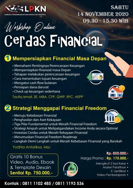 Workshop Online - CERDAS FINANCIAL (Sabtu, 14 November 2020) logo