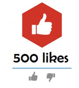 500 Youtube Likes logo