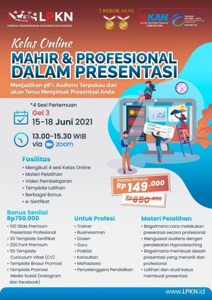Kelas Online MAHIR & PROFESIONAL DALAM PRESENTASI 15 - 18 JUNI 2021 logo