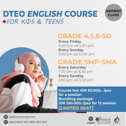 Pendaftaran DT English Course Akhwat SD Kelas 4 sampai 6 logo