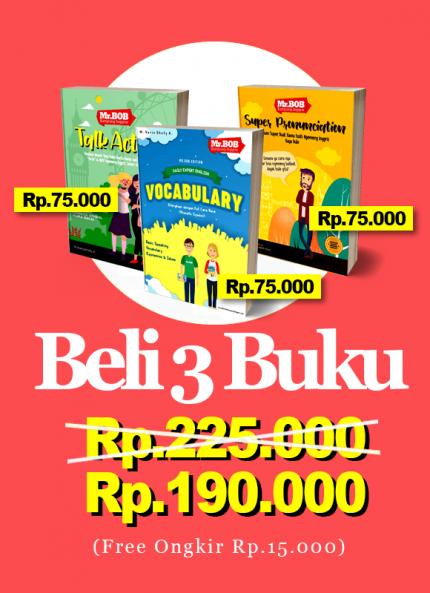 Paket 3 Buku Mr.Bob Kampung Inggris - Ads 1 logo